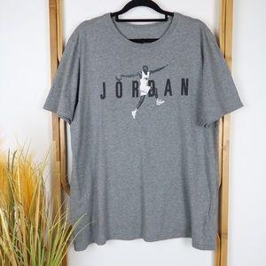Jordan tshirt size L grey short sleeve casual top